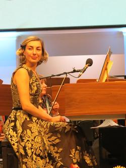 Anna Kislitsyna performing Bach with Omsk Symphony Orchestra