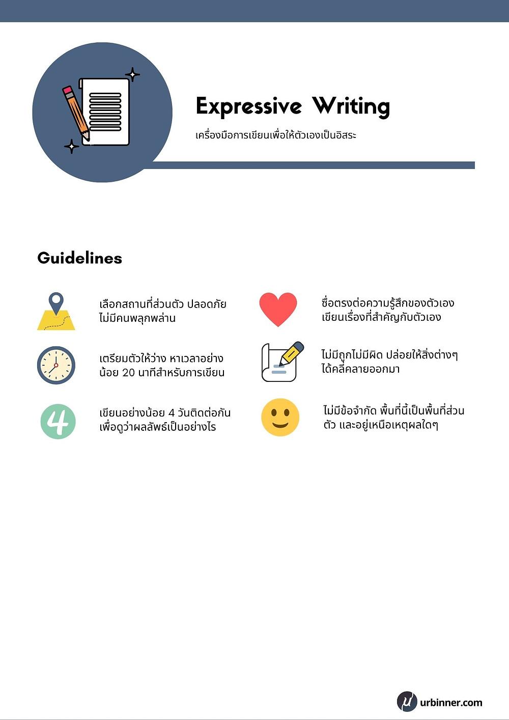Expressive Writing Template สำหรับการเขียนเพื่อเยียวยาความรู้สึก ปัญหาของคุณ