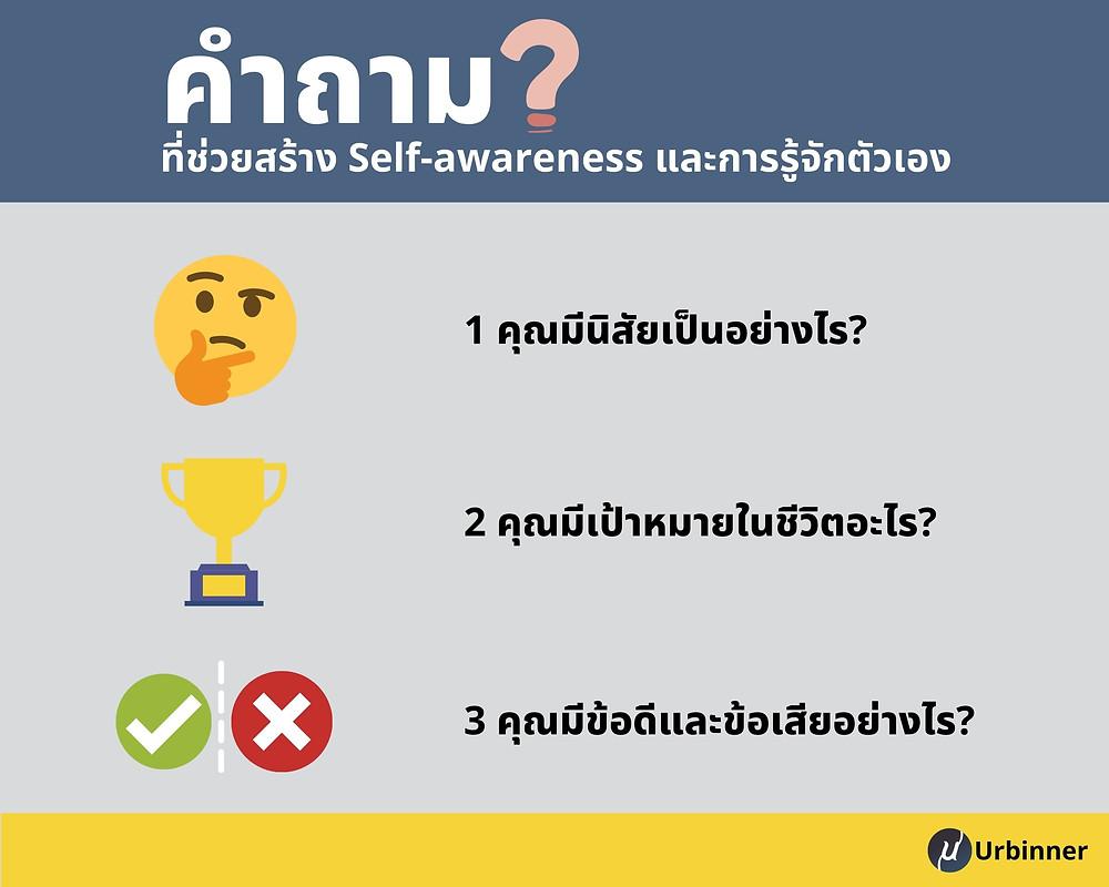 คำถามที่ช่วยสร้าง Self-Awareness และการรู้จักตัวเอง