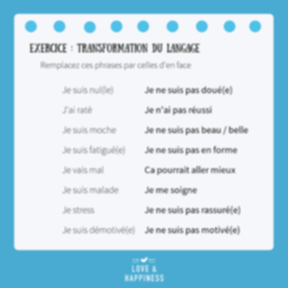Exercice langage - Love & Happiness