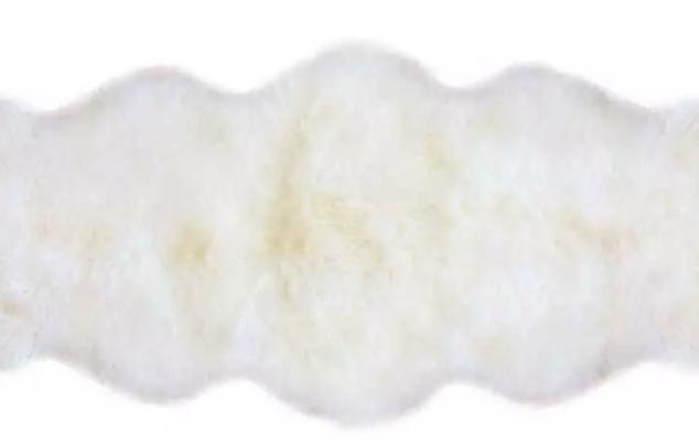 white fur hide