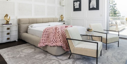 Cool White Grey Feminine Bedroom