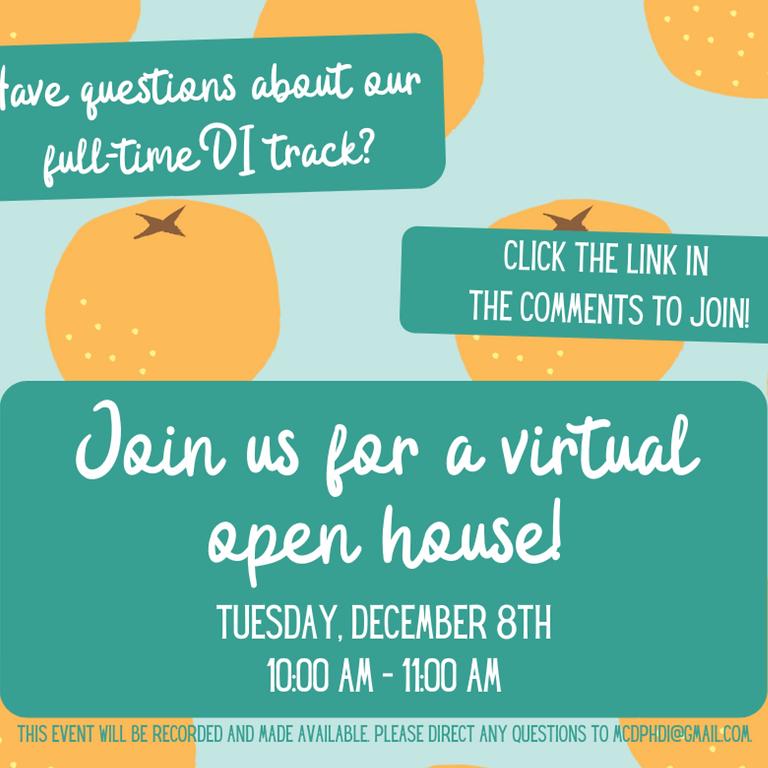 Virtual Open House - MCDPH Dietetic Internship