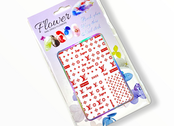 LV x Supreme Stickers- D055