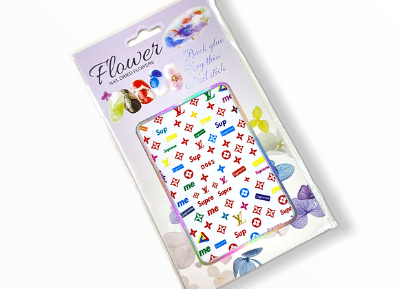 Rainbow LV x Supreme Stickers- D063