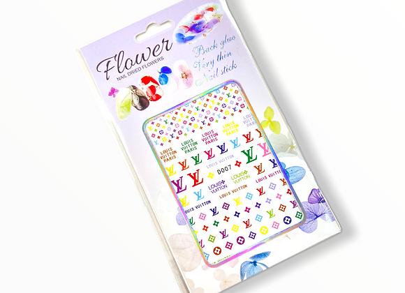 Rainbow LV Stickers- D007