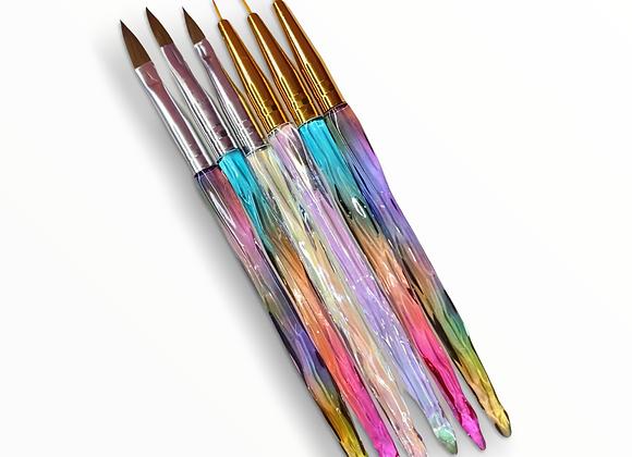 6pc Glass Nail Art Brush