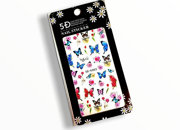 5D Butterfly Stickers- 5DK003