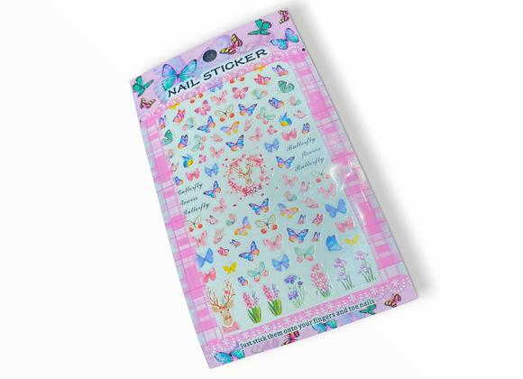 Ombré Butterfly Stickers- F624