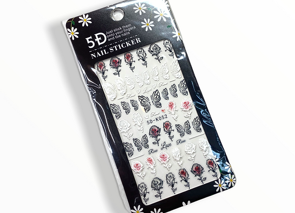 Rose x Butterfly Stickers- 5DK052