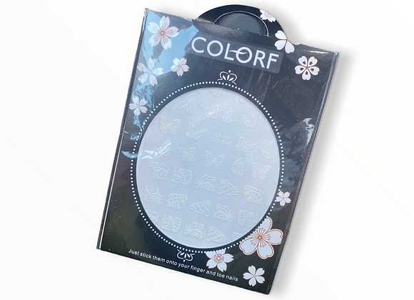White Butterfly Stickers- CB212
