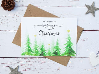 personalised family christmas cards, bespoke christmas cards, christmas tree cards,