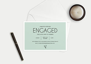 bespoke invites, bespoke engagement invitations, personlised engagement party invitations, bespoke engagement party invitations