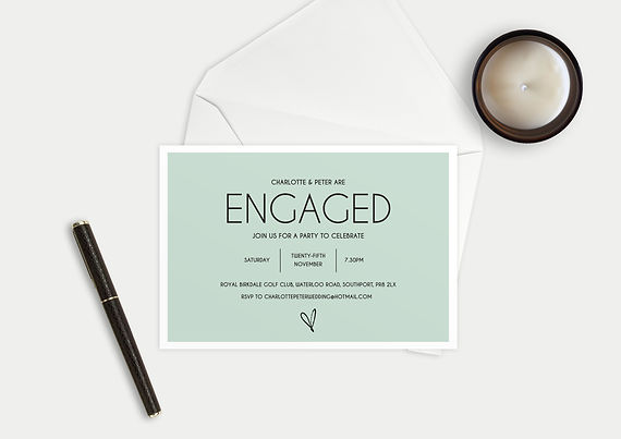 bespoke engagement invitations, engagement party invitatins, bespoke engagemen party invitations, engagement party invitations uk by bespoke invites merseyside