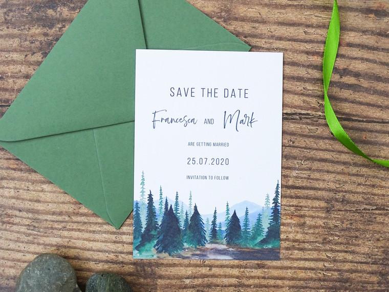 Woodland Forest Themed Wedding Stationery