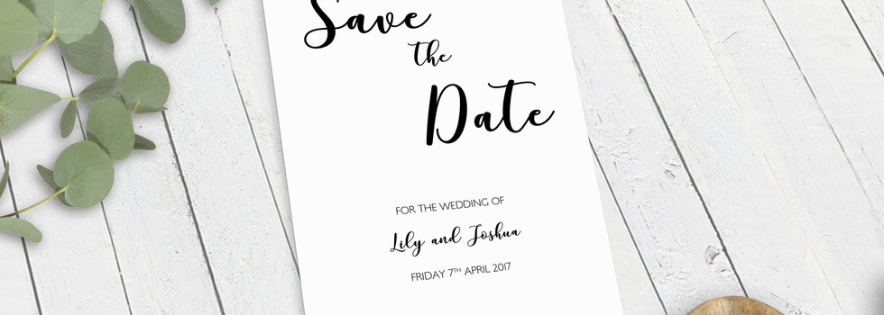 Big Caligraphy Bespoke Wedding Invitations, Save the Dates, RSVPs and Wedding Menus personalised wedding stationery by Bespoke Invites
