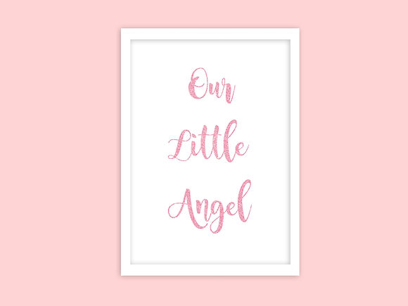 bespoke invites, baby gifts, customisable prints, personalised prints, personalised gifts, pink glitter, pink glitter print