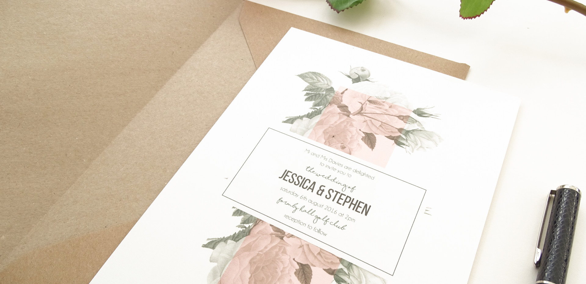 Old Hollywood Bespoke Wedding Invitations, Save the Dates, RSVPs and Wedding Menus personalised wedding stationery by Bespoke Invites