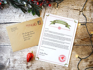 oersonalised letter from santa, custom letter from father christmas, christmas personalised gifts, santa clauds, north pole letter