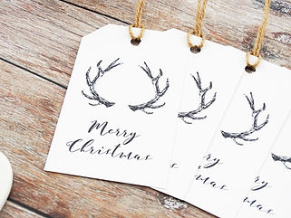 luxury christmas gift tags, personalised christmas gifts, personalised christmas gift tags, reindeer antlers, christmas gift tags, gift tags, christmas, christmas gifts, bespoke christmas gifts