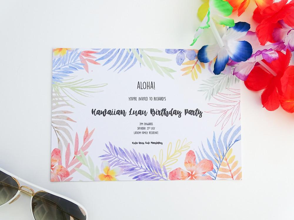 birthday party invitations, unique, modern birthday party invitations and bespoke party invitations by bespoke invites