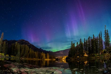 Aurora Borealis. Banff National Park.