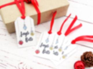 novelty christmas gift tags, jingle bells gift tags, christmas gifts, christmas gift tags, handmade christmas gift tags