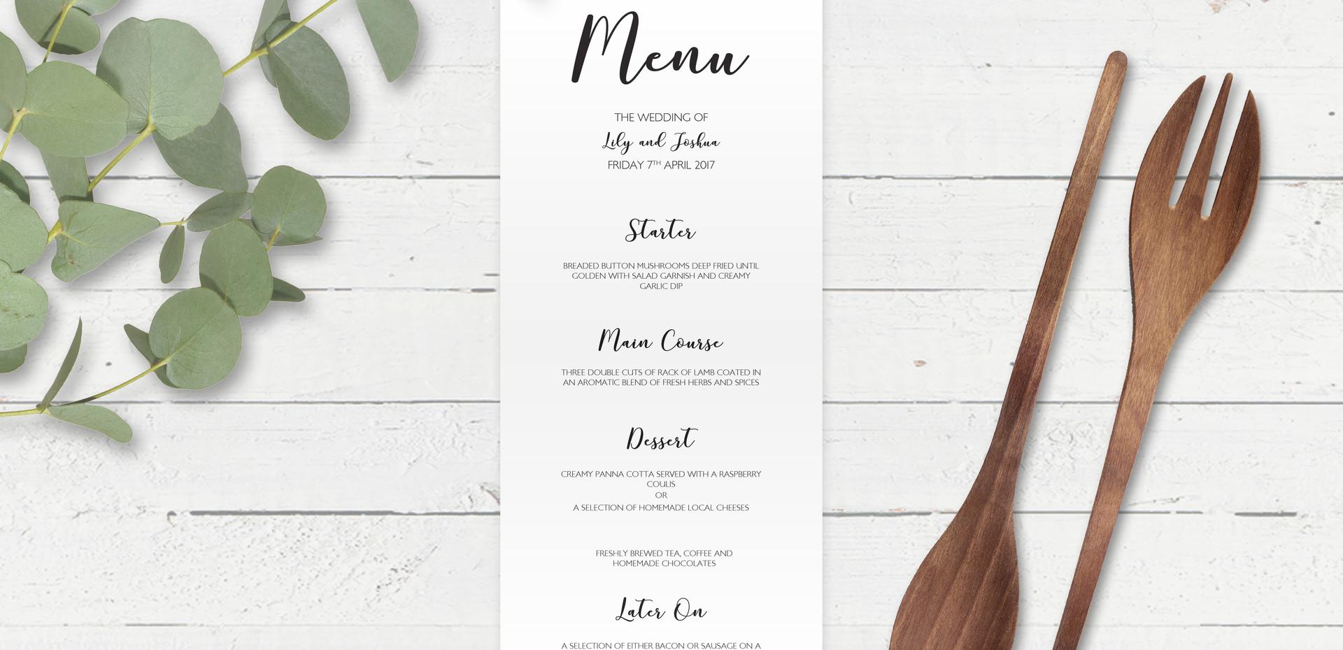 Big Caligraphy Bespoke Wedding Invitations, Save the Dates, RSVPs and Wedding Menus personalised wedding stationery by Bespoke Invites