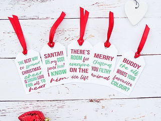 christmas movie quote gift tags, christmas gift tags, fun christmas gift tags, christmas wrapping