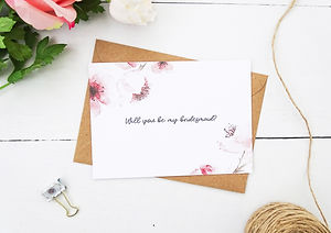 will you be my bridesmaid cards, bridesmaid invitations, bespoke bridesmaid invitations and cards by bespoke invites