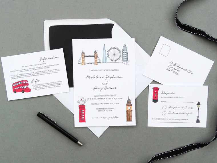 London Themed Wedding Invitations - Our Latest Design!
