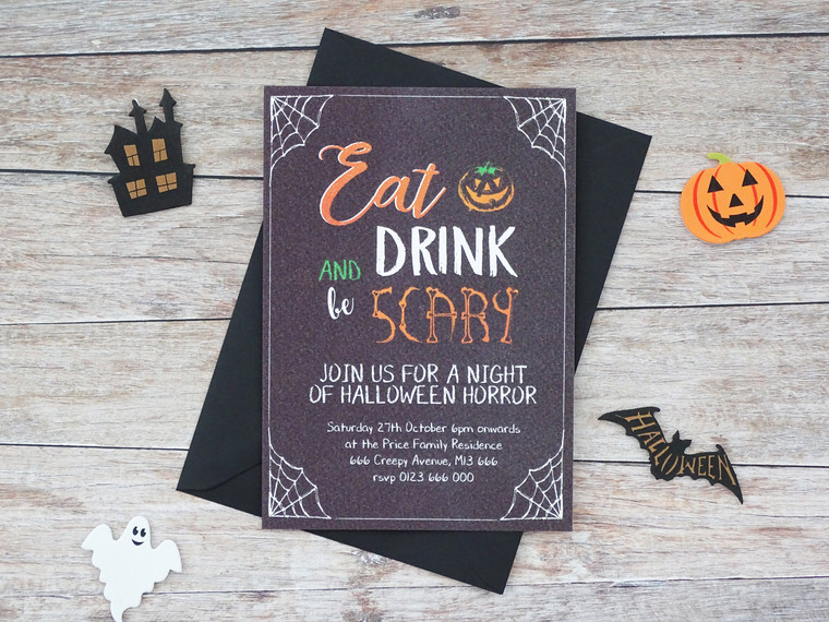 Personalised Halloween Party Invitations!