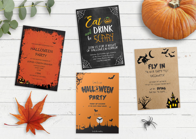 Halloween is Coming! Order Your Bespoke Halloween Party Invitations Now!