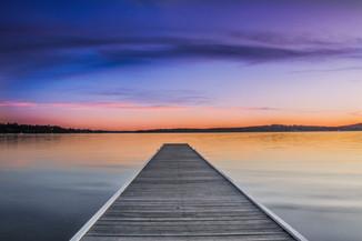 Warners Bay Jetty. Lake Macquarie, NSW.