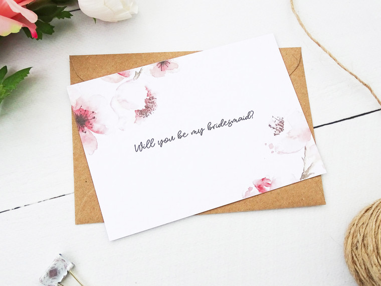 Propose To Your Bridesmaids In Style with Our Personalised Be My Bridesmaid Invitations