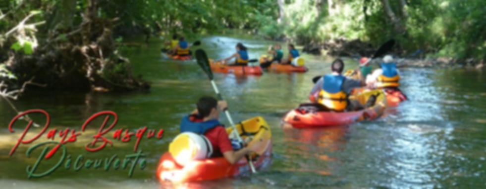 canoë Kayak sur la nivelle, saint pée sur nivelle