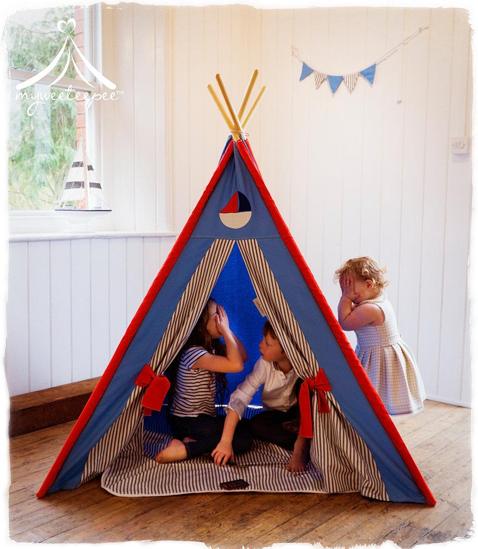 Sailor Teepee & Myweeteepee® - Award Winning Teepee Play Tents For Children | UK