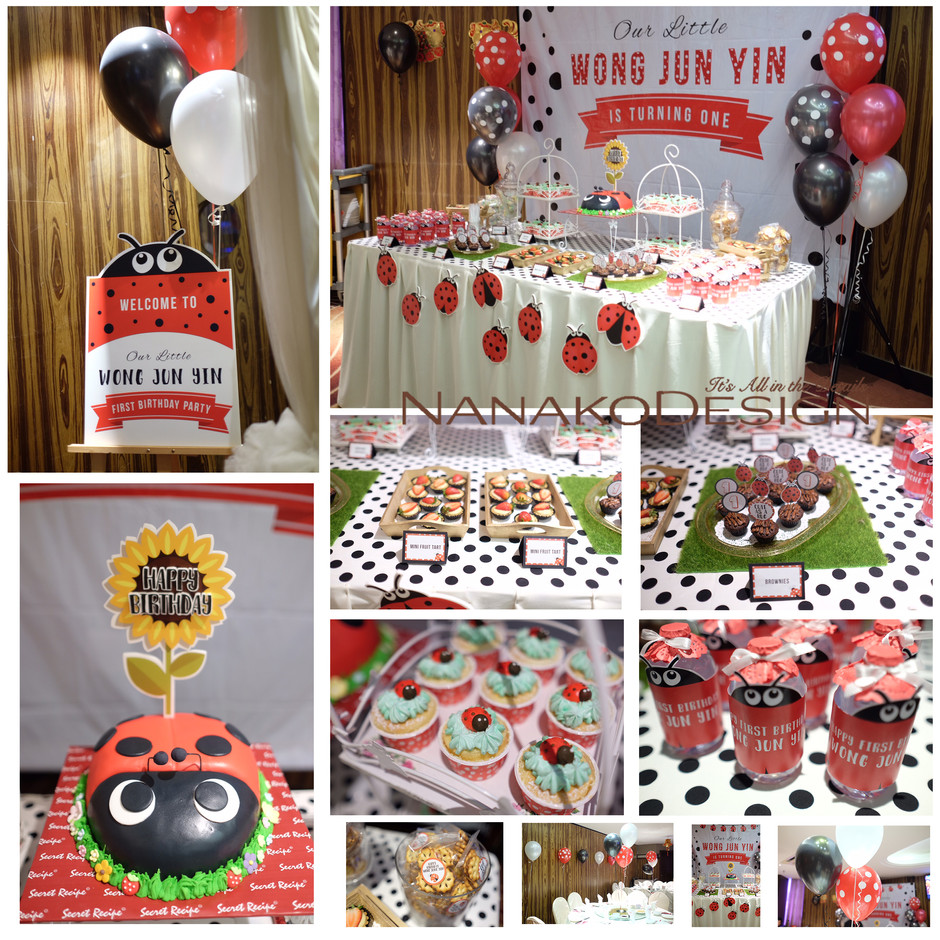NANAKODESIGN : LADYBUG THEME BIRTHDAY PARTY