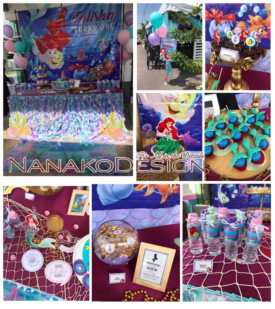NANAKODESIGN : LITTLE MERMAID THEMED BIRTHDAY PARTY