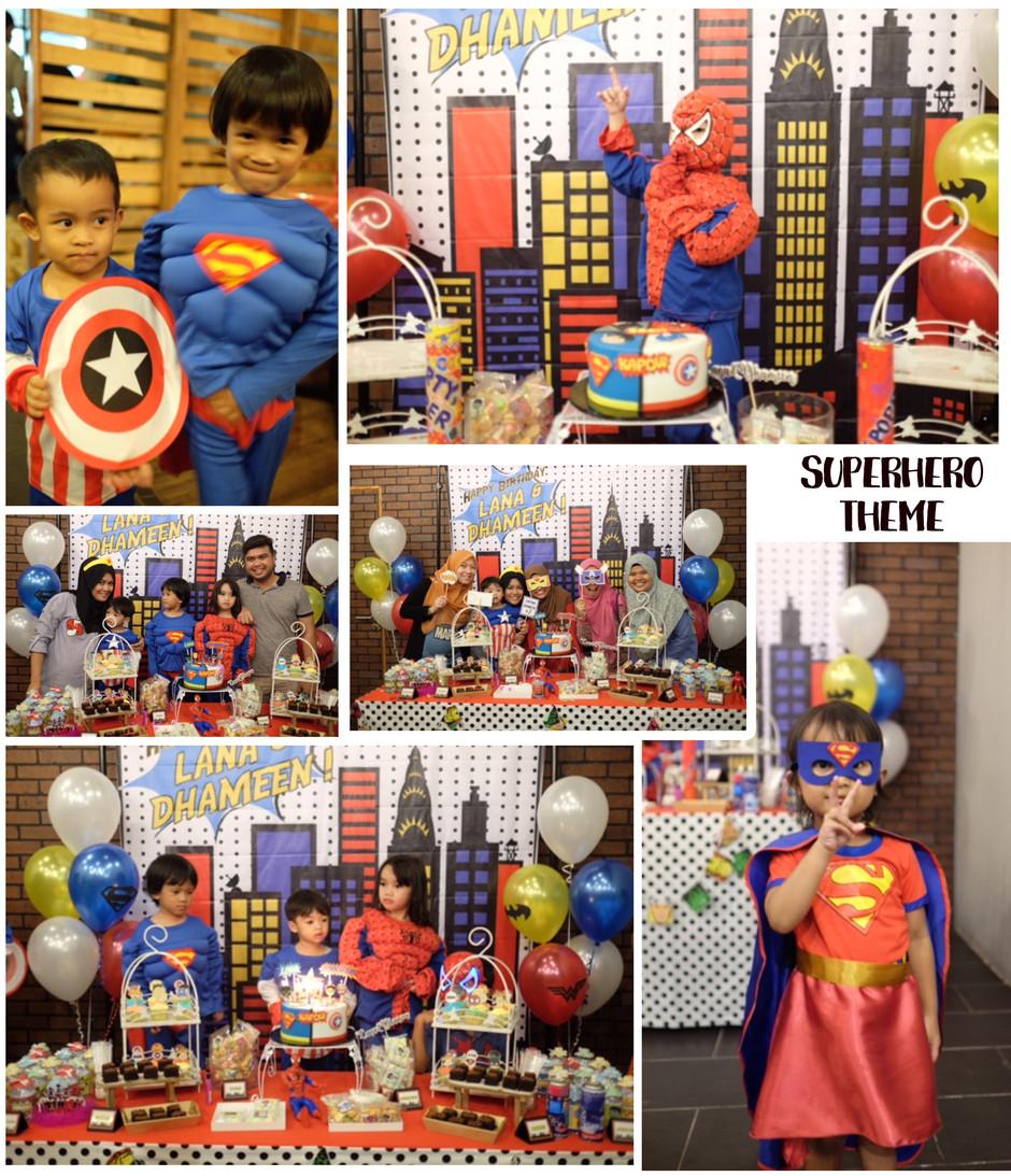 NANAKODESIGN : SUPERHEROES THEME BIRTHDAY