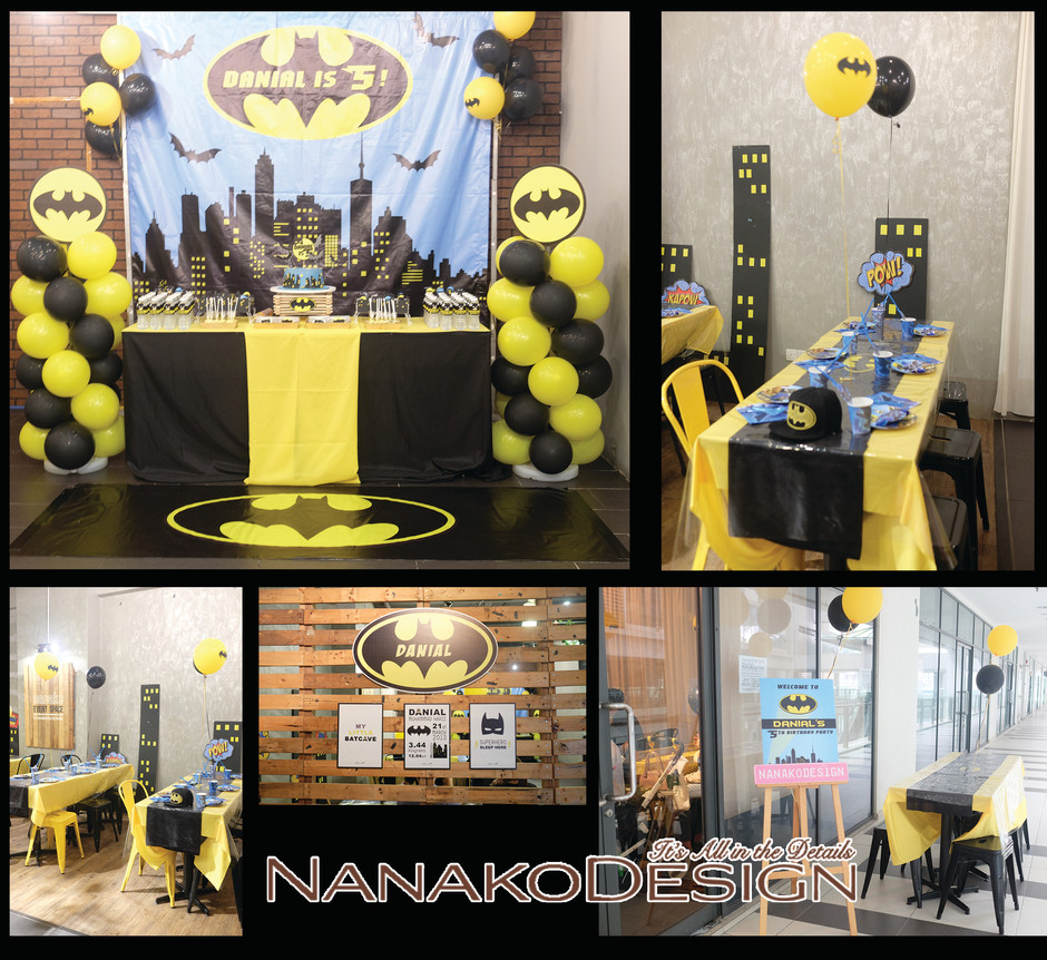NANAKODESIGN : BATMAN THEMED BIRTHDAY PARTY