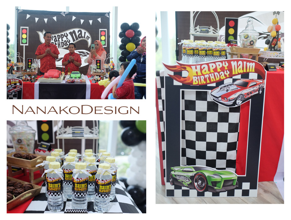 NANAKODESIGN : HOT WHEELS THEMED BIRTHDAY