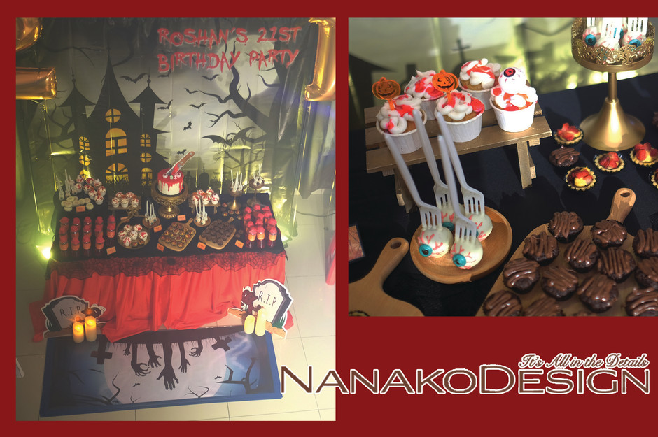 NANAKODESIGN : HALLOWEEN THEMED BIRTHDAY PARTY
