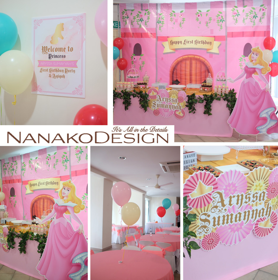 NANAKODESIGN : BIRTHDAY PARTY & AQIQAH ARYSSA