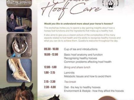 Horse hoof care workshop