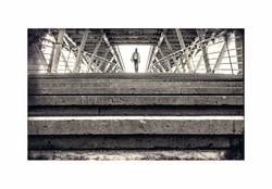 5 ème N&B - Escalier