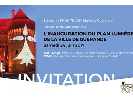 Inauguration Plan de Lumière de Guérande