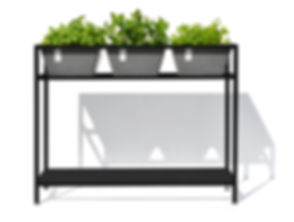 ECOPOTS Berlin plant table - black frame