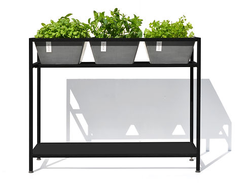 ECOPOTS Berlin plant table - black frame