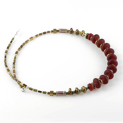 Sea Glass Spring Necklace Ruby